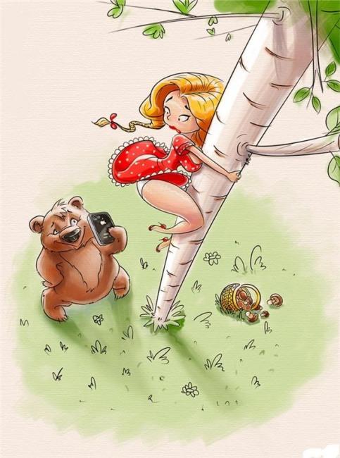 Картинка  про медведей, телефон пошлая