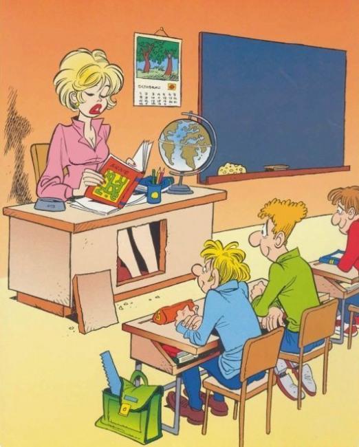 Картинка  про школу, учителей пошлая