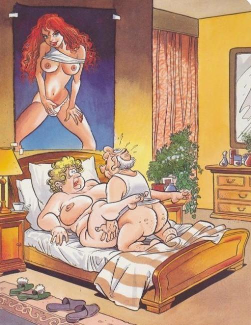 Картинка  про мужа, жену, секс, интимная пошлая