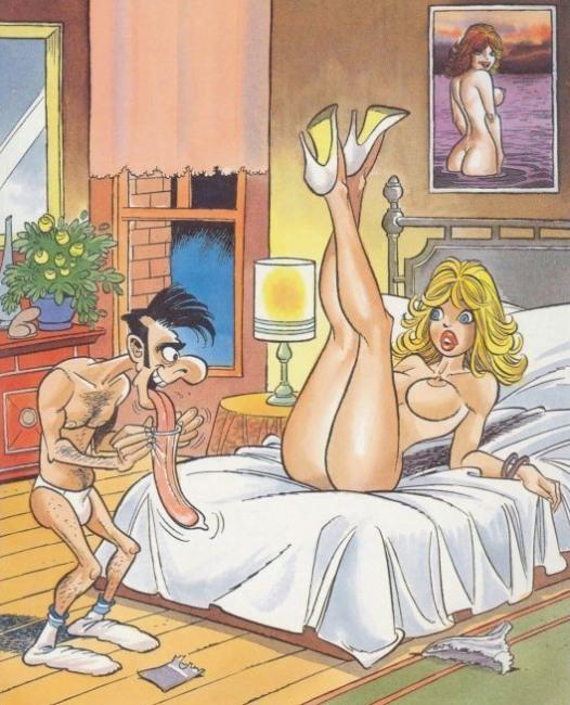 Картинка  про куннилингус, язык, презервативы пошлая