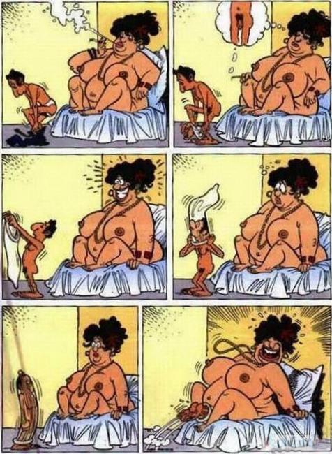 Картинка  про секс, толстых людей, интимная, пошлая комикс