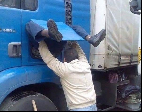 Фото прикол  про дальнобойщиков