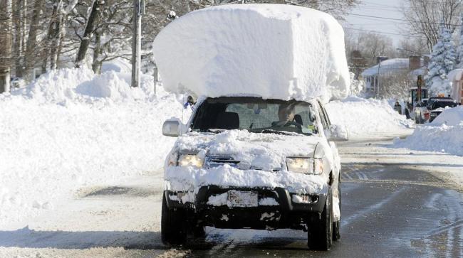 Фото прикол  про автомобили, снег и зиму