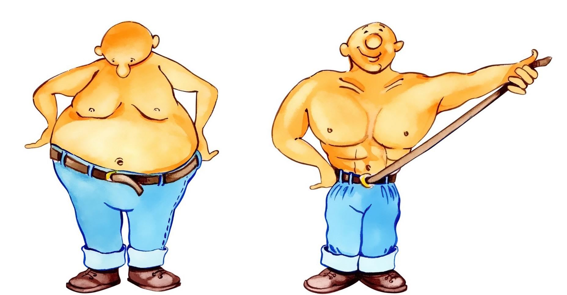 Прикольные рисунки толстых мужиков