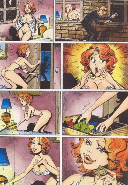 Картинка  про воров, пошлый комикс