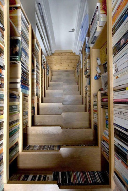 Фото прикол  про лестницу и библиотеку