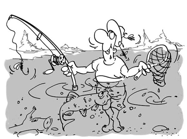 Картинка  про рыбалку, рыбаков пошлая
