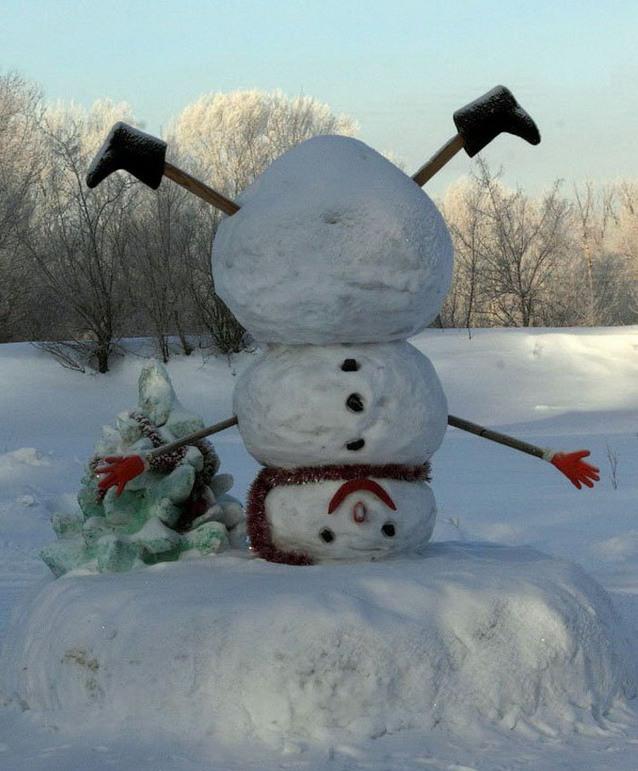 Прикольные картинки снежков