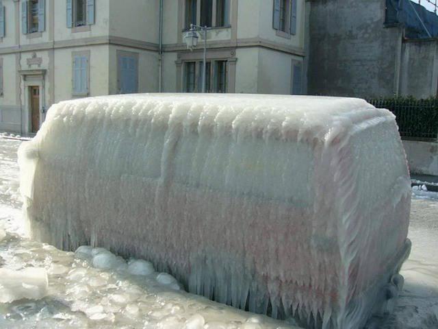 Фото прикол  про автомобили, лед и зиму
