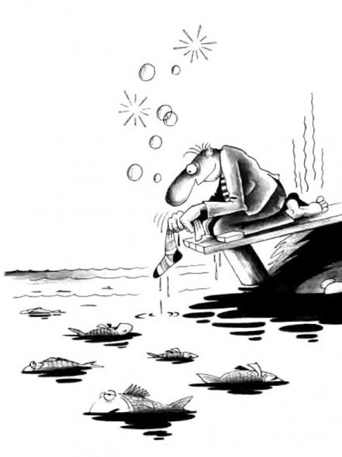 Картинка  про носки, рыбалку черная