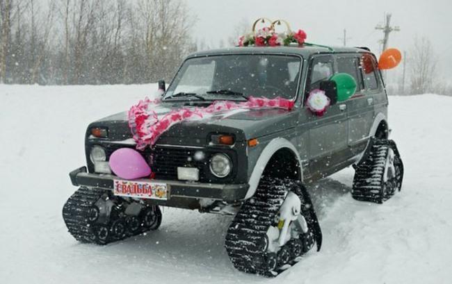 Фото прикол  про автомобили и свадьбу