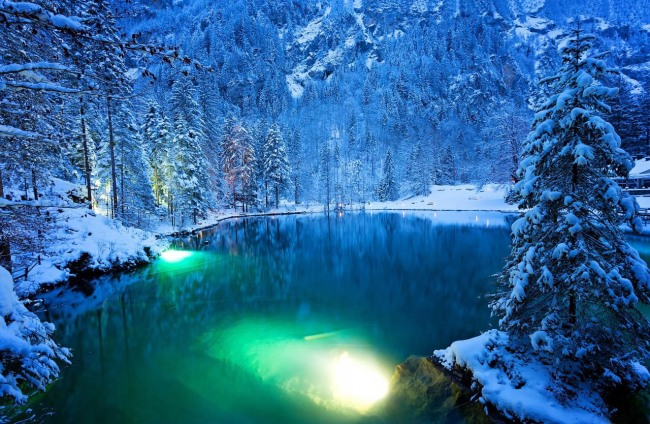 Фото прикол  про озеро и зиму