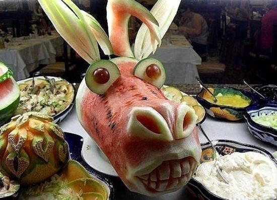 Фото прикол  про арбуз и еду