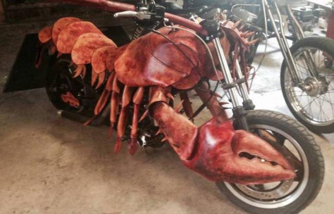 Фото прикол  про омаров и мотоцикл