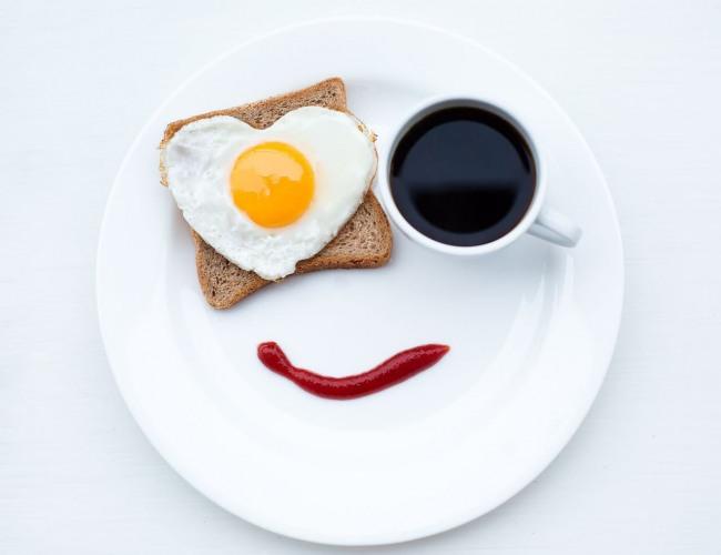 Фото прикол  про завтрак, кофе и романтику