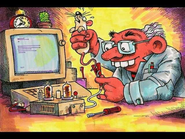 Картинка  про мышей и компьютерную мышь