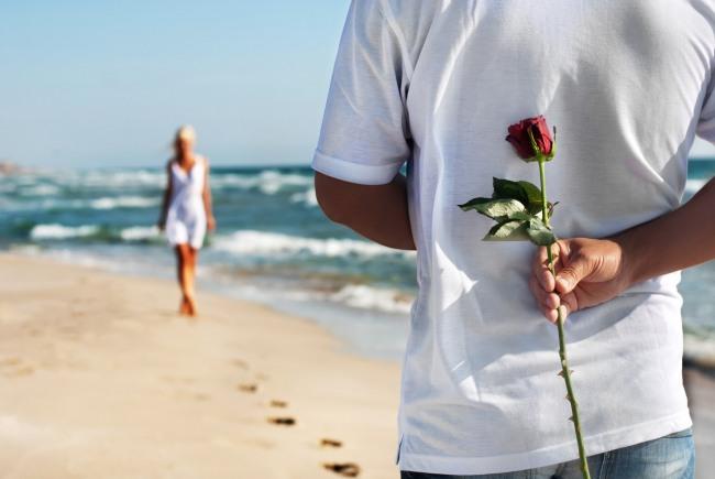 Фото прикол  про романтику и цветы