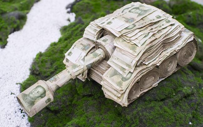 Фото прикол  про деньги и танк