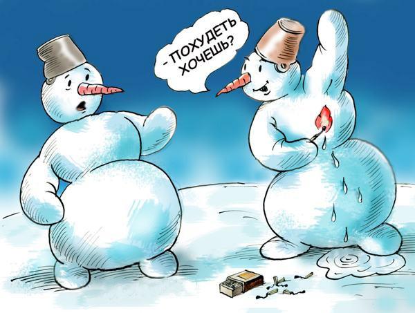 Картинка  про снеговика