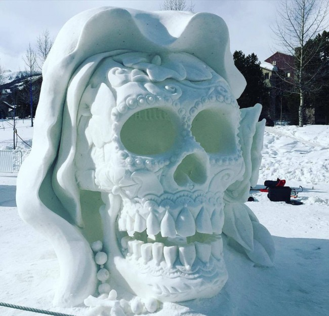 Фото прикол  про лед и череп