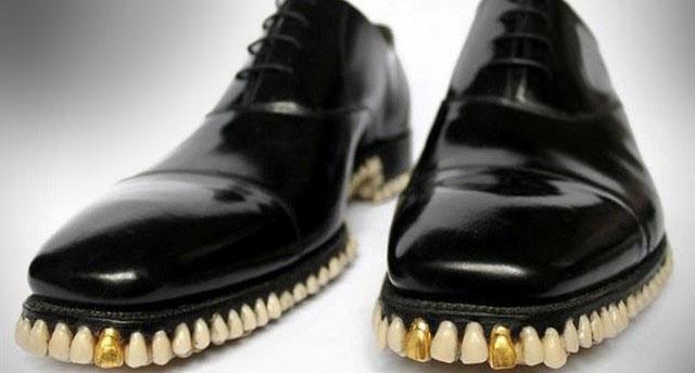 Фото прикол  про обувь и зубы