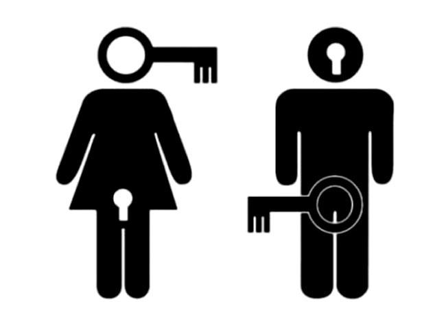Картинка  про мужчин, женщин