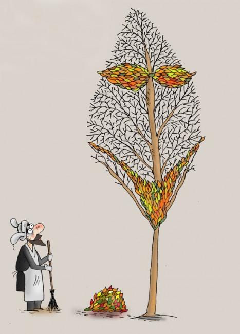 Картинка  про листья игра воображения