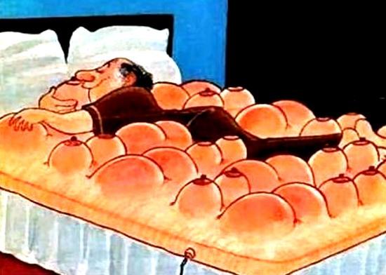 Картинка  про кровать, интимная пошлая
