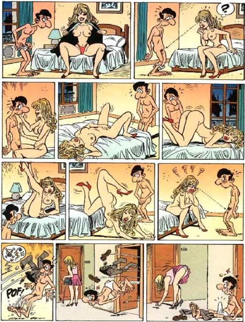Картинка  про эрекцию, пошлая комикс