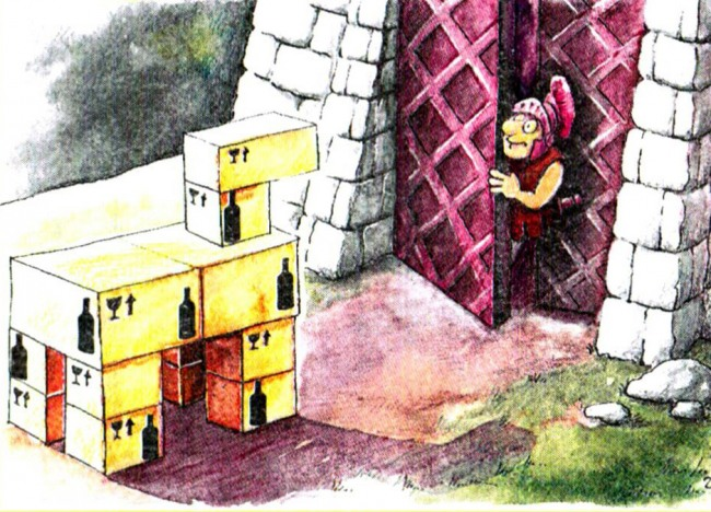 Картинка  про троянского коня и алкоголь