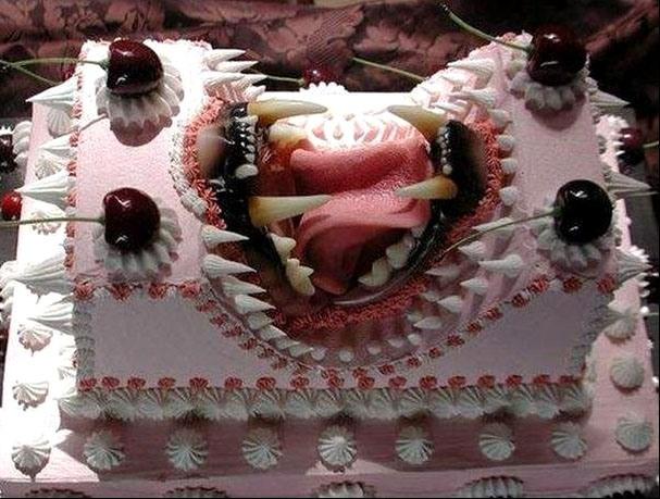 Фото прикол  про торт и зубы