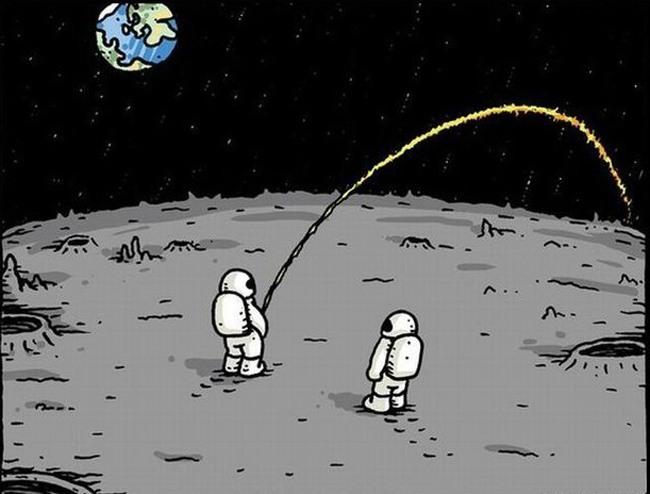 Картинка  про космонавтов и мочеиспускание