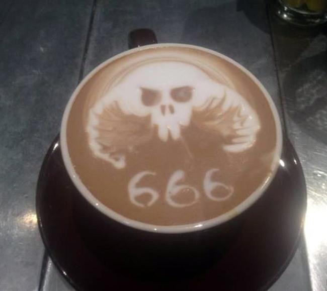 Фото прикол  про кофе черный