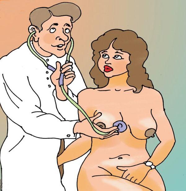 Картинка  про докторов, интимная пошлая