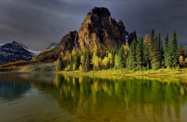 Фото прикол  про горы и осень
