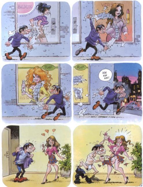 Картинка  про раздевание, пошлая комикс