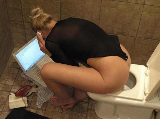 Фото прикол  про туалет, работу пошлый