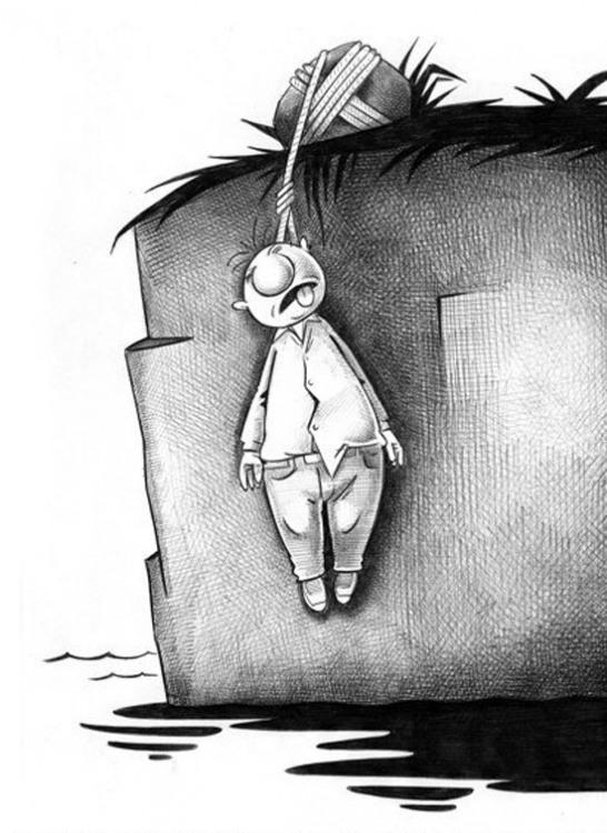 Картинка  про самоубийство черная