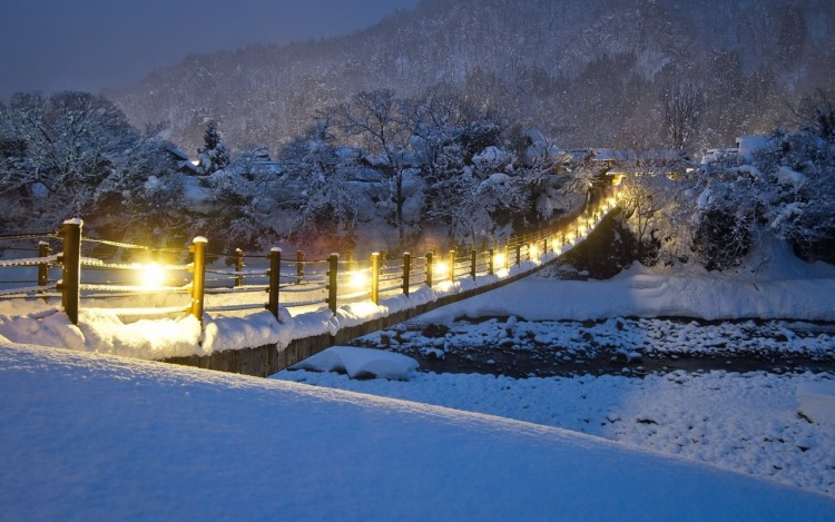 Фото прикол  про мост и зиму