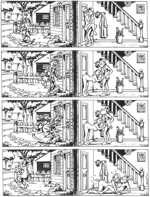 Картинка  про секс, почтальонов, комикс пошлая