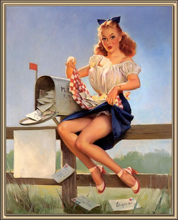 Картинка  про почтальонов и эротику