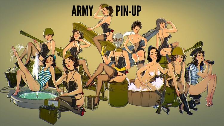 Картинка  про армию, девушек пошлый