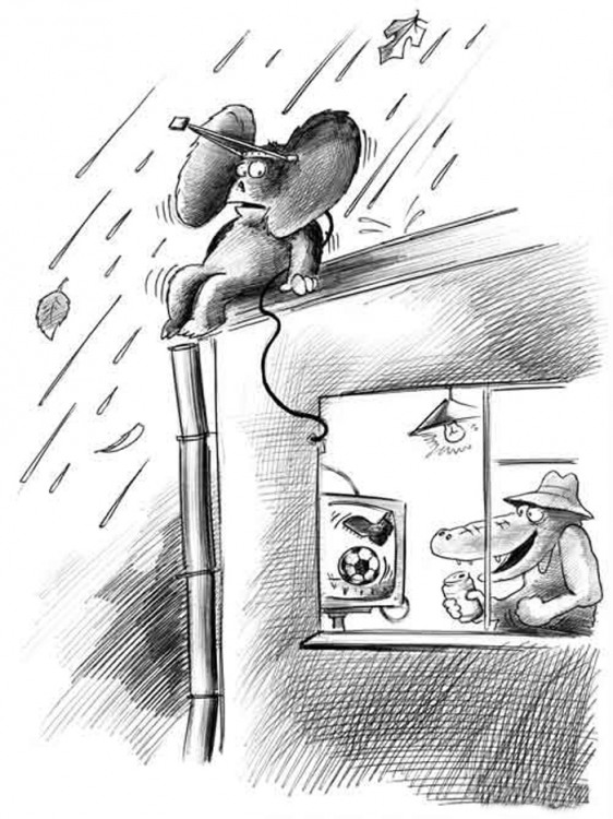 Картинка  про чебурашку