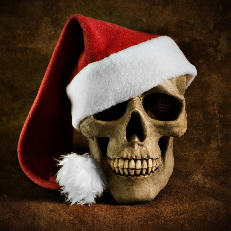 Фото прикол  про череп, новый год черный