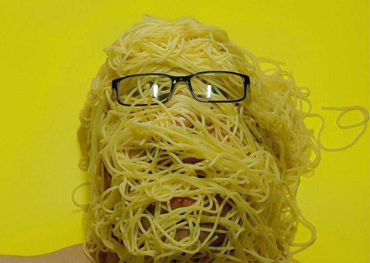 Фото прикол  про спагетти
