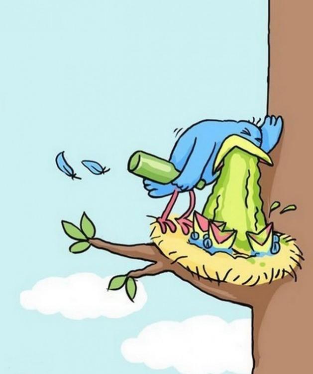 Картинка  про птиц, тошноту, алкоголь отвратительный