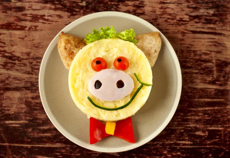 Фото прикол  про еду и свиней