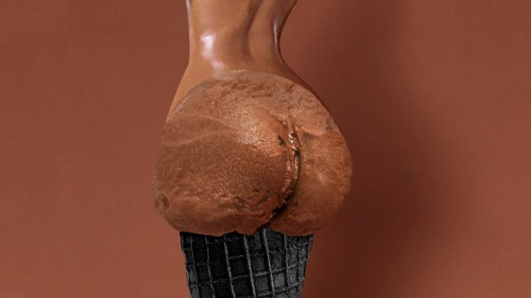 Фото прикол  про мороженое игра воображения