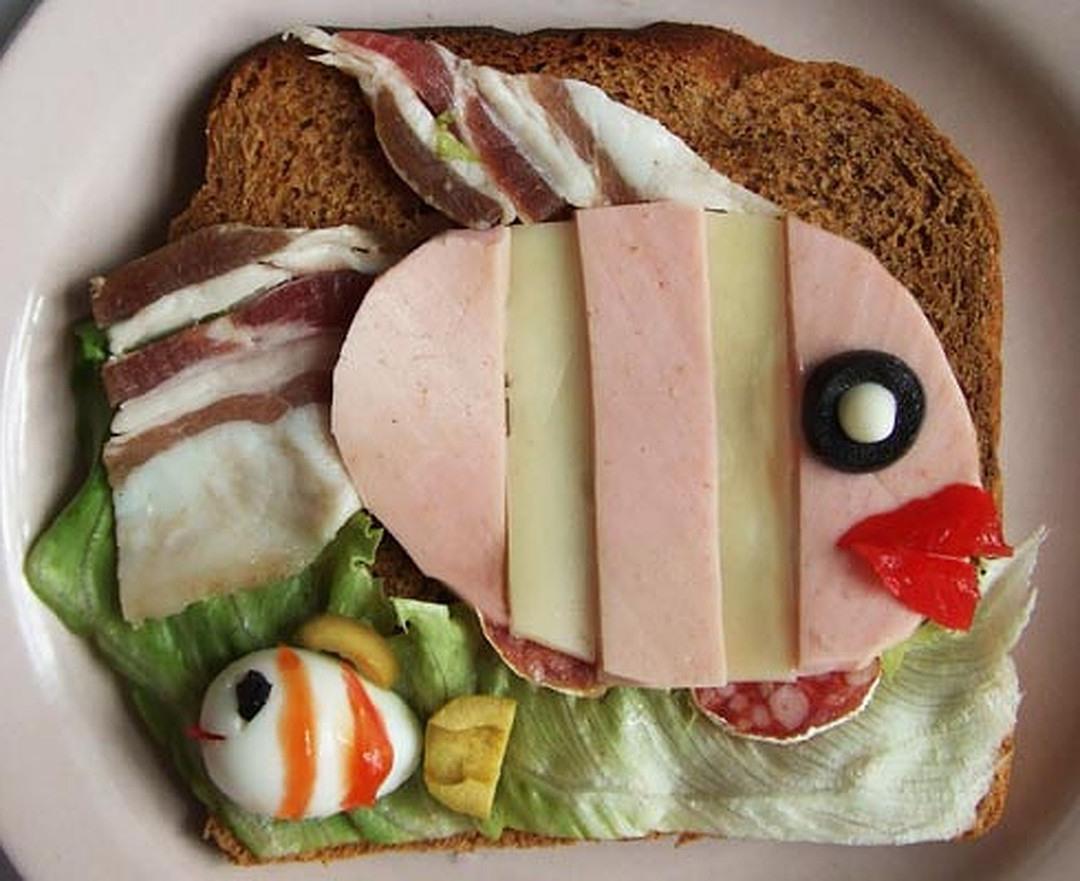 Картинка бутерброда прикол