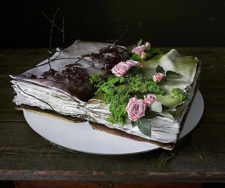 Фото прикол  про торт и книги